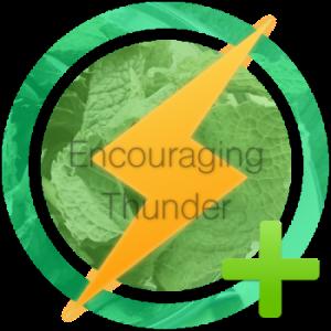 I received The Encouraging Thunder Award