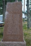 Memorial stone for the children and grown ups who drowned over hundred years ago at the lake